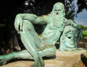 Statue of Leonardo da Vinci in Amboise, France.